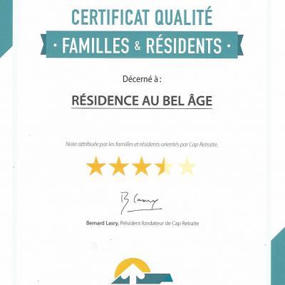 Certificat cap retraite